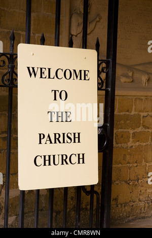 Entrance to St. Edwards Church, Stow on the Wold, Gloucestershire, UK - Stock Photo