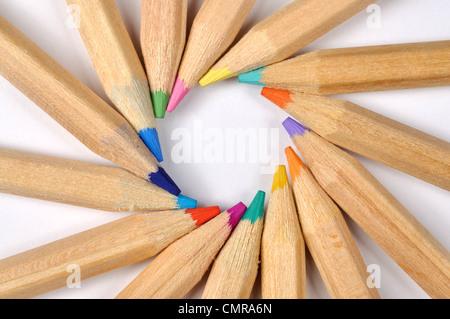 Colored Pencils Macro - Stock Photo