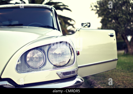 Front view of a Citroen DS Pallas in a vintage style - Stock Photo