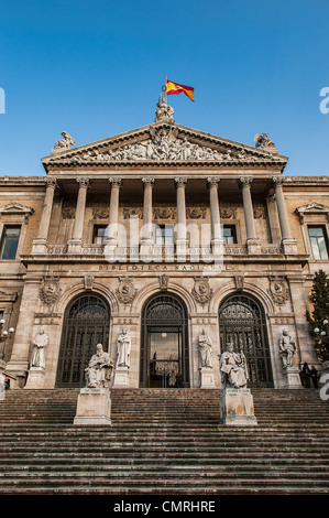 National Library, Madrid, Spain. 1892 - Stock Photo