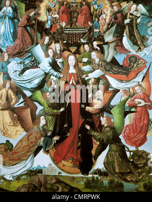 Mary, Queen of Heaven, Master of the St. Lucy Legend - Stock Photo