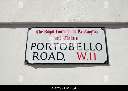 Portobello road in Notting Hill, West London - Stock Photo