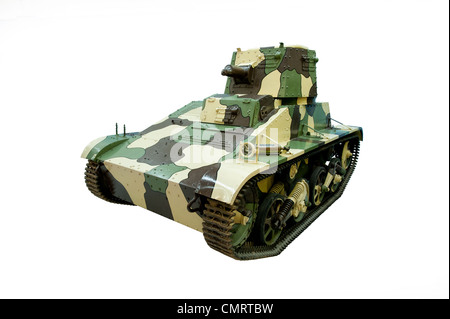 A cut out of a Vickers Armstrong Light Tank MkIIIB used by British & allied forces during WW2 - Stock Photo