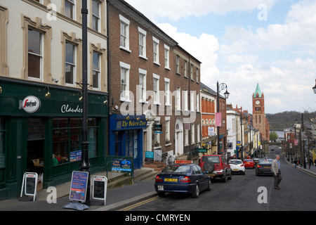 shipquay street inside the walls of Derry city county londonderry northern ireland uk. - Stock Photo