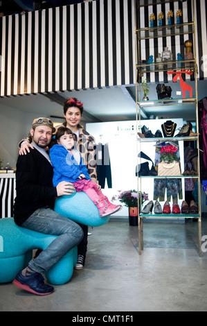Philip Blau and Helena Blaunstein, clothes designers, in ...
