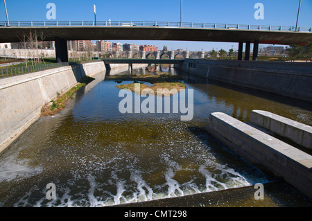 River Manzanares in Arganzuela district Madrid Spain Europe - Stock Photo