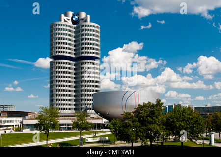 Munich - The BMW Museum in Olympiapark, Munich, Germany - Stock Photo