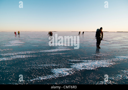 People on the ice - Stock Photo