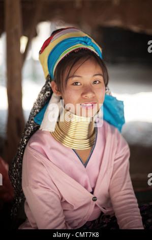 Karen Long Neck Hilltribe. Thailand. - Stock Photo
