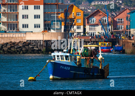 Exmouth from Dawlish Warren, Devon, South West England, Europe - Stock Photo
