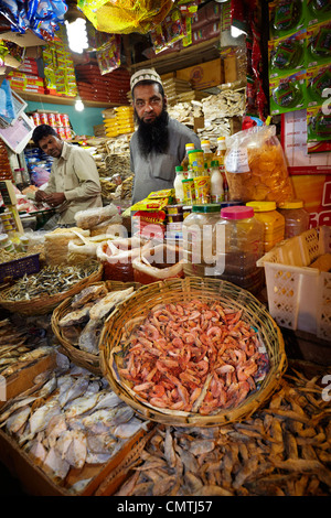 Sri Lanka - Nuwara Eliya, Kandy province, dried and salted fish at the market - Stock Photo