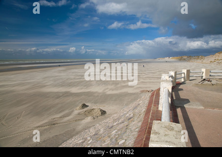 Beach in the Baie de Somme in Picardie, France - Stock Photo