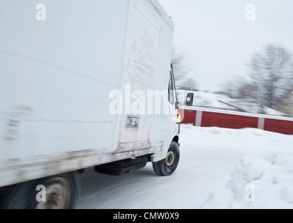 Pickup truck on the go - Stock Photo