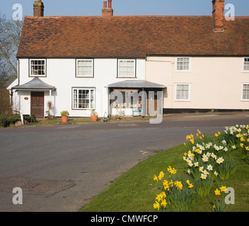 Village bookshop Stoke by Nayland, Suffolk, England - Stock Photo