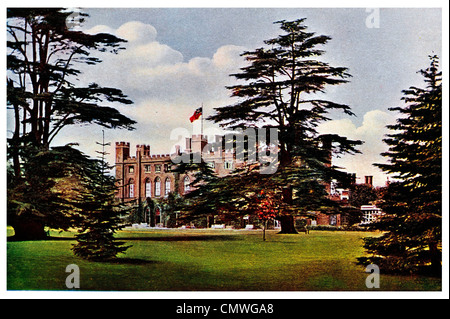1905 Cassiobury House Watford Hertfordshire England Park UK - Stock Photo