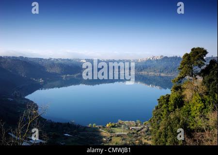 italy, lazio, nemi lake - Stock Photo