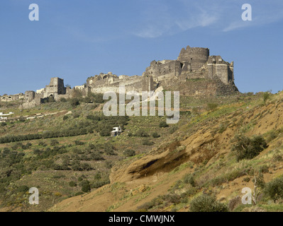 Syria. Baniyas. Margat castle, also known as Marqab from the Arabic Qalaat al-Marqab. Built in 1062. - Stock Photo