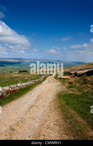 Cam High Road a Roman Road running from Ingleton to the fort at Bainbridge. The view looking towards Bainbridge, - Stock Photo