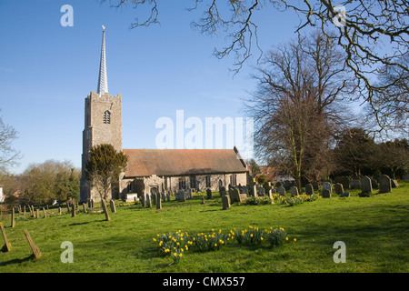 Holy Trinity village parish church, Middleton, Suffolk, England - Stock Photo