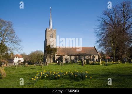 Holy Trinity village parish church, Middleton, Suffolk, England - Stock Photo