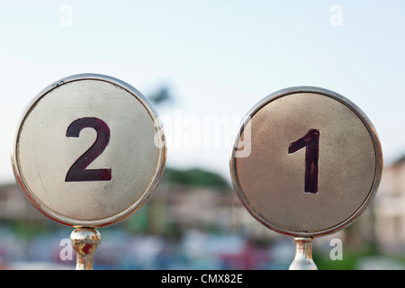 Egypt, Table numbers in Aswan - Stock Photo