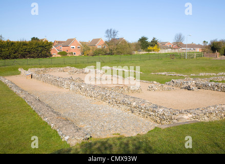 Roman fort at Caister on Sea, Norfolk, England - Stock Photo