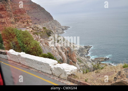 Rugged coast line capetown southafrica - Stock Photo