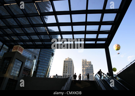 Beisheim Center, U- and S-Bahn Station, Potsdamer Platz, Berlin - Stock Photo