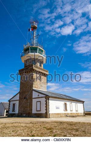 Semaphore - Pointe du Raz - Cap Sizun - Finistère - Brittany (Bretagne) - France - Stock Photo