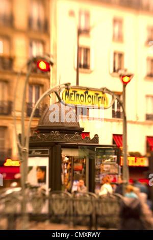 paris france metro station montmatre place de clichy blurred stock photo royalty free image. Black Bedroom Furniture Sets. Home Design Ideas