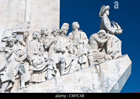 Detail of the Padrão dos Descobrimentos or Monument to the Discoveries in Belém, Lisbon, Portugal - Stock Photo