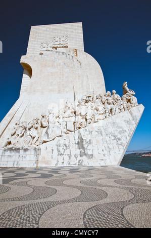 The Padrão dos Descobrimentos or Monument to the Discoveries in Belém, Lisbon, Portugal - Stock Photo