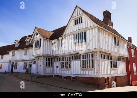 The Corpus Christi Guildhall in Lavenham, Suffolk, England - Stock Photo