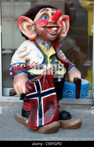 Norway, County of Finnmark, Hammerfest, troll figurines - Stock Photo