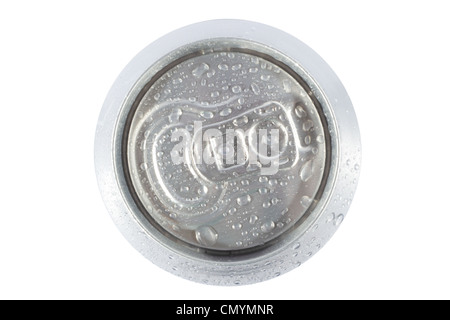 Top view cold grey can - Stock Photo