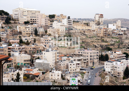 Palestinian houses in Bethlehem on the West Bank. - Stock Photo