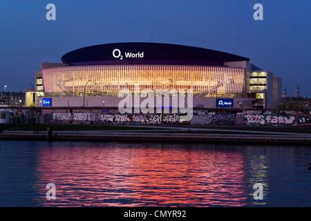 O2 World Arena, event hall, River Spree, Berlin, Germany - Stock Photo