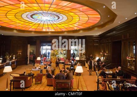 Lobby Hotel Vier Jahreszeiten Kempinski  Munich, Germany - Stock Photo