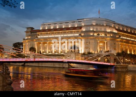 The Fullerton Hotel, Singapur Aisia - Stock Photo