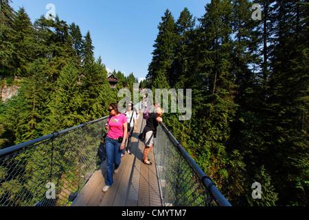 Lynn Canyon, Capilano Suspension Bridge, Vancouver, Canada, North America - Stock Photo
