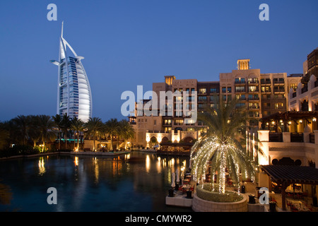 Burj al Arab, Medinat Jumeirah Hotel, Dubai UAE - Stock Photo