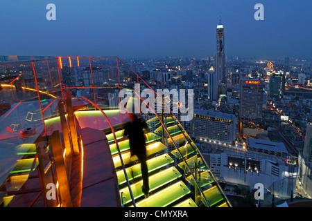 Red Sky Rooftop Bar, Centara Grands, Bangkok, Thailand - Stock Photo