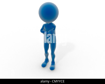Leaning against white background. - Stock Photo