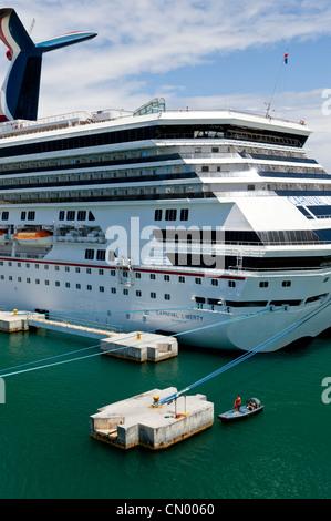 Cruise Ship In Port At Puerto Vallarta Mexico Stock Photo
