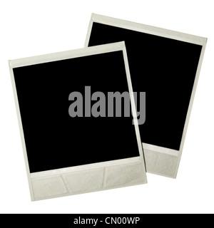 Photo cards isolated over white background - Stock Photo