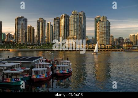 View North over False Creek, Vancouver, British Columbia - Stock Photo