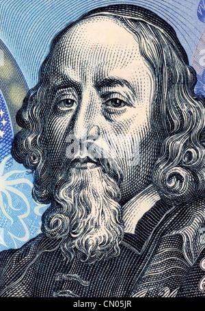 John Amos Comenius (1592-1670) on 20 Korun 1988 Banknote from Czechoslovakia. Czech teacher, educator and writer. - Stock Photo