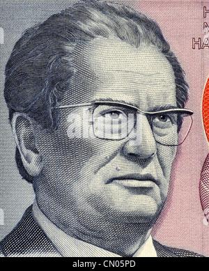 Josip Broz Tito (1892-1980) on 5000 Dinara 1985 Banknote from Yugoslavia. - Stock Photo