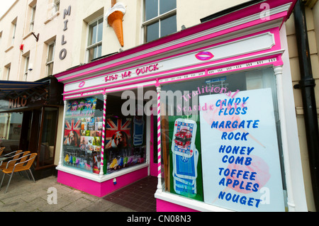 Kiss Me Quick sweetshop in Margate, Kent. - Stock Photo