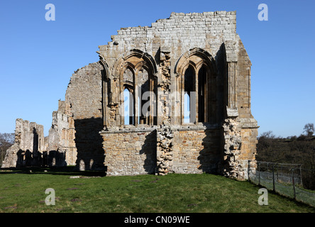 Remains of the Church in Egglestone Abbey Near Barnard Castle County Durham UK - Stock Photo